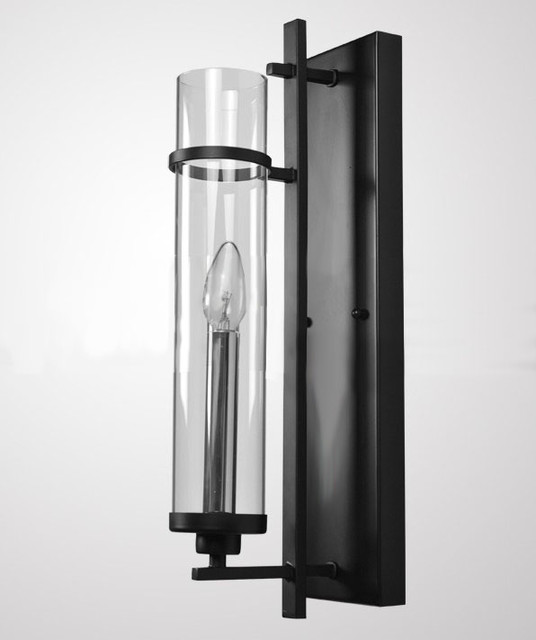 Simple Glass Wall Sconces : Modern Simple Iron Art and Clear Glass Wall Sconce - Contemporary - Wall Sconces - new york - by ...
