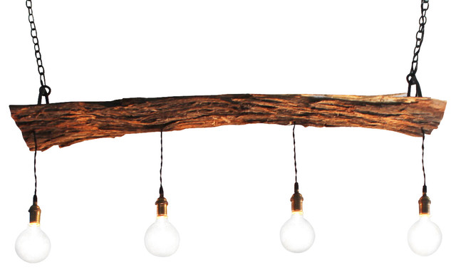 Handcrafted mesquite wood lighting fixture rustic for Ceiling lamp wood