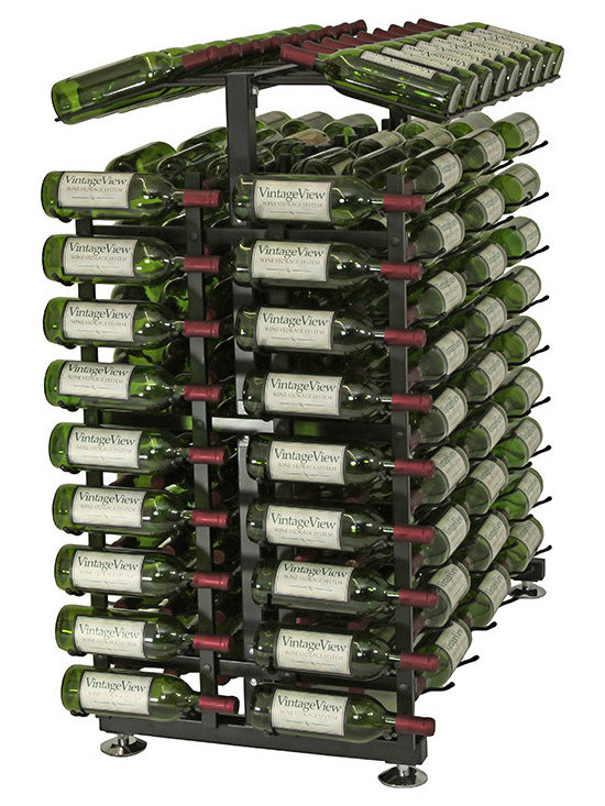 18 Bottle Island Display Endcap Wine Rack - Maximize wine rack display capacity with style! Complete your run of Island Display Racks with retail rack endcaps. Capture attention of passers-by and utilize space at the ends of your display aisles. This package includes everything you need except the IDR3 Island Display Rack (sold separately).
