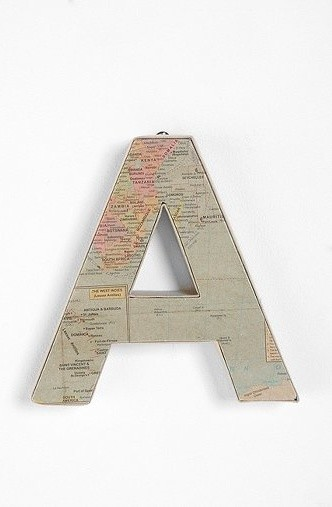 Around the World Letter eclectic-home-decor
