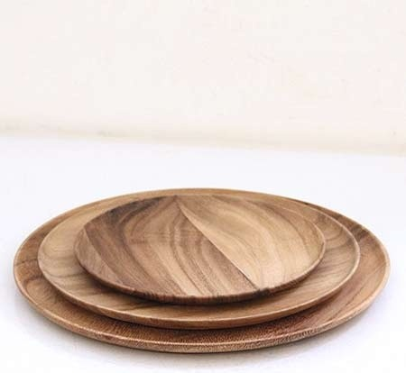 Wooden Plates Contemporary Dinner By Brook