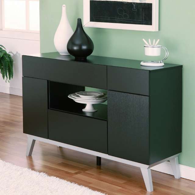 Outdoor Contemporary Sideboards ~ Furniture of america miura modern multi storage black