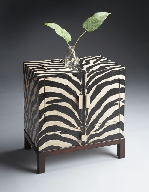 Zebra Stripe Accent Cabinet - Modern - Accent Chests And Cabinets - new york - by FurnitureNYC
