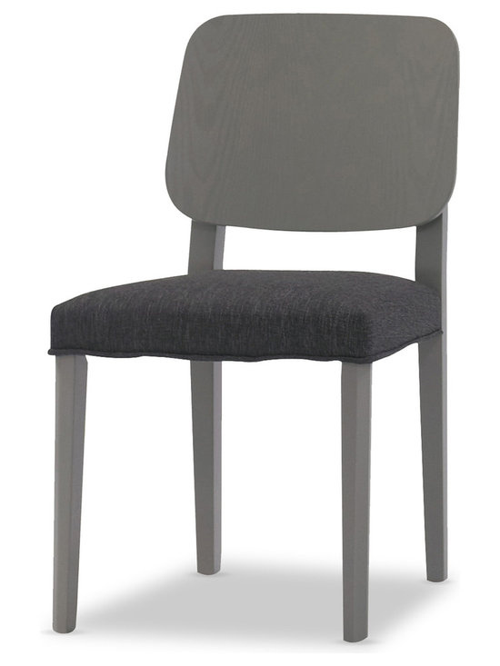 Bryght - Pina Granite Liquorice Fabric Upholstered Dining Chair - The Pina dining chair with its understated class and an ergonomically designed wooden back will prove to be a welcome addition to your dining room. Simple, yet versatile the Pina dining chair will keep you sitting comfortably for those sumptuous meals for as long as you desire.