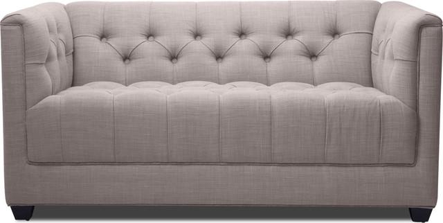 Grand Grey Deluxe 2 Seat Sofa modern-sofas