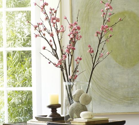 Faux Plum Blossom Branch traditional plants