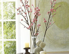 Faux Plum Blossom Branch traditional-artificial-flowers-plants-and-trees