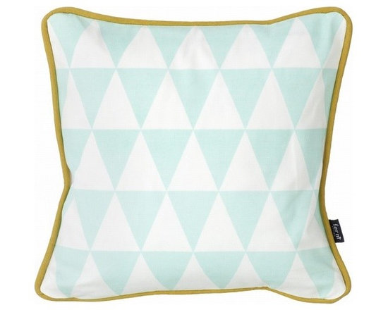 Ferm Living Organic Mint Little Geometry Pillow - Use the Little Geometry organic Pillow in Mint by Ferm Living to decorate your couches, beds and chairs. With different colors and different geometric shapes there is something here for everyone.