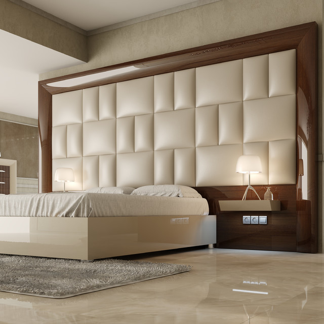 Contemporary headboards Chambre a coucher lit king size