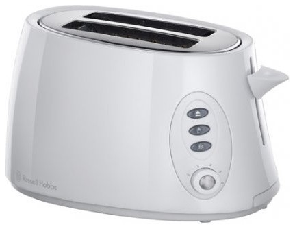 White Stylis 2 Slice Compact Toaster modern-toasters