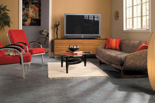 Quadra Charcoal Grey Tiles Uf1019 Contemporary Living Room Other Metro By Quick Step