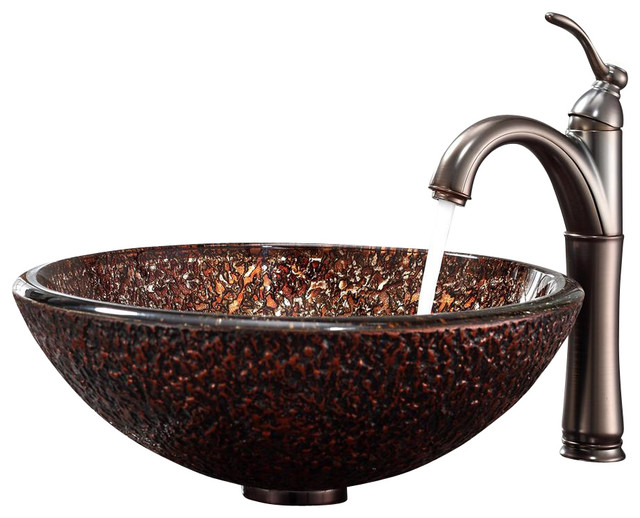 Kraus Venus Riviera Faucet Oil Rubbed Bronze modern-bathroom-sinks