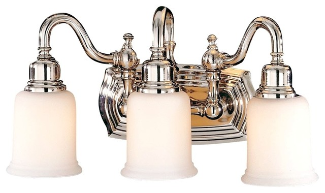 Feiss Canterbury 19 Wide Three Light Bathroom Fixture Traditional Bathroom Vanity Lighting
