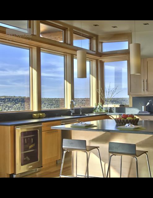 kitchen dining views space prefab modern wood warm modular contemporary-kitchen