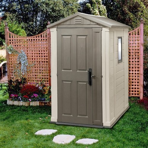 Keter apex 4 x 6 ft storage shed traditional sheds for Garden shed 4 x 3