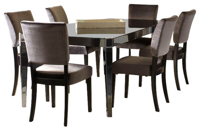 standard furniture parisian 8 piece leg dining room set in