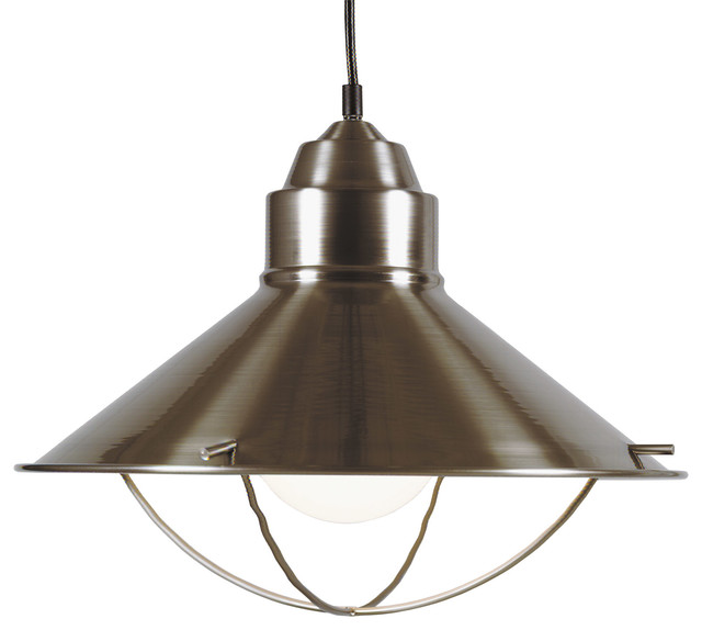 Kenroy 66349BS Harbour 1 Light Pendant modern-pendant-lighting