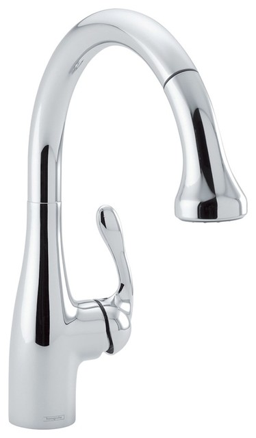 Hansgrohe-04066000 Allegro E Gourmet Prep Sink Pull-Down Kitchen Faucet in Chrom traditional-kitchen-faucets