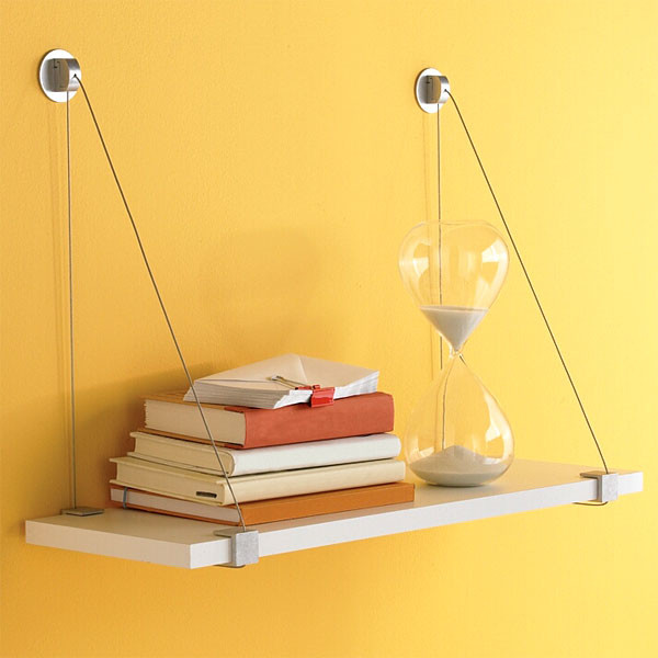Cable Brackets with White Melamine Shelf - Modern - Display And Wall Shelves - by The Container ...
