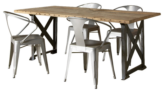Industrial Factory Reclaimed Wood Table Thick 48 X 30