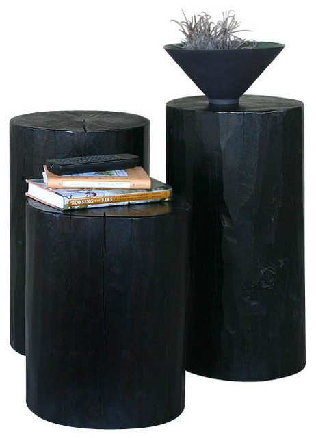 Lacquered Log Table eclectic-side-tables-and-end-tables