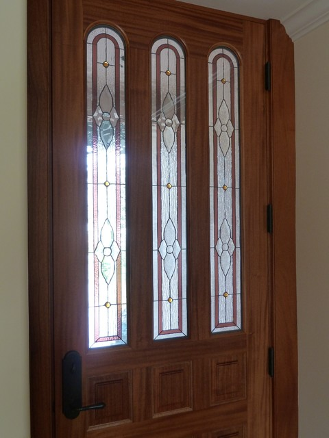 Custom stained glass traditional-window-treatments