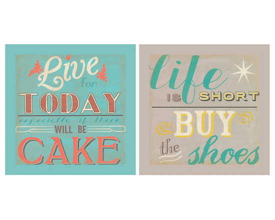 Ballard Designs - Musings Art - Fine art reproduction. Stretched canvas over wood. Words to live by. This series of lighthearted sayings, by artist June Erica Vess, adds humor to a home office, bedroom or kitchen. Printed on canvas with the look of a vintage poster.Musings Art:. .