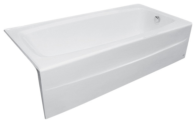 ... Spectra 66 Inch Cast Iron Soaking Tub With Right Drain In ...