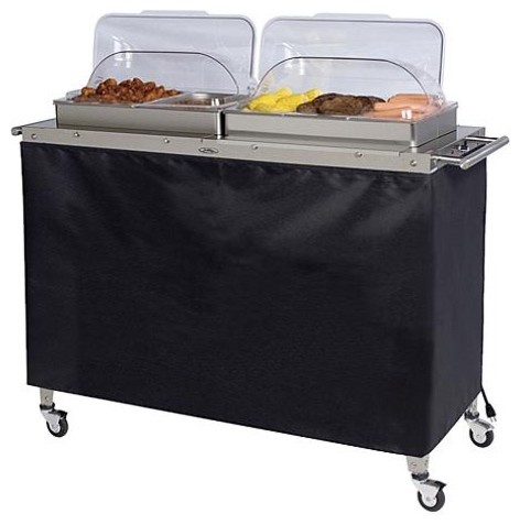 Grand Size Buffet Cart Skirt traditional buffets and sideboards