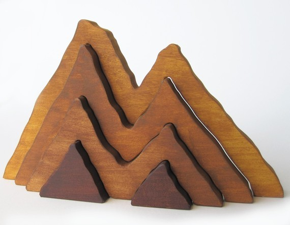Wooden Mountain Range Stacker by Imagination Kids modern-baby-and-toddler-toys