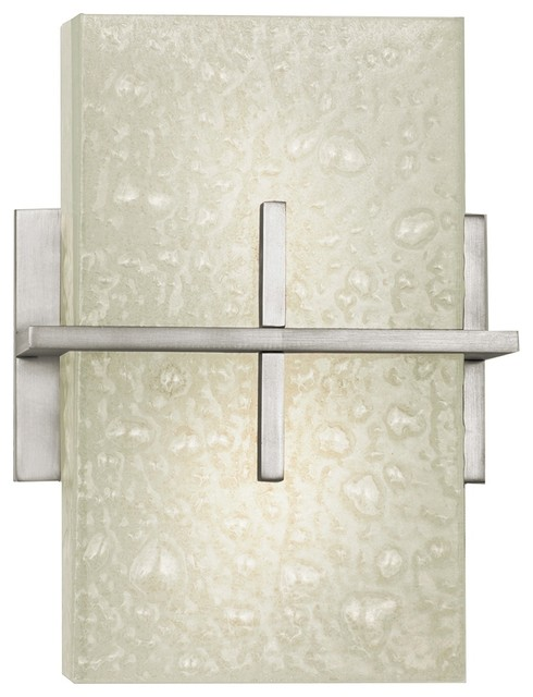 "Contemporary Stratus Collection Energy Efficient 11"" High Wall Sconce contemporary-wall-sconces"