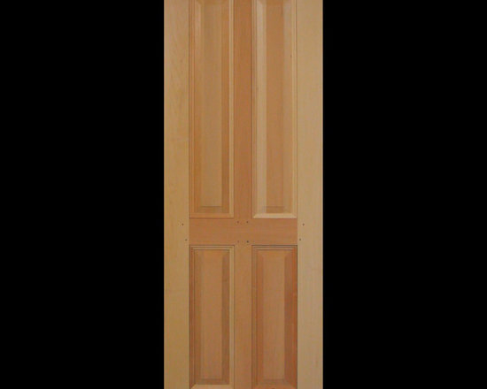 Kestrel Shutters & Doors - Closet Doors - This traditional 4 panel door is custom sized and built using true pegged, mortise and tenon joinery.