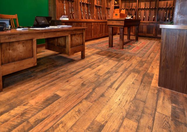 Antique Oak Skip-Planed T&G Flooring rustic