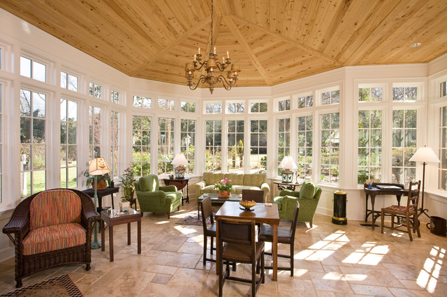"""Sunny Sunroom"" traditional-porch"