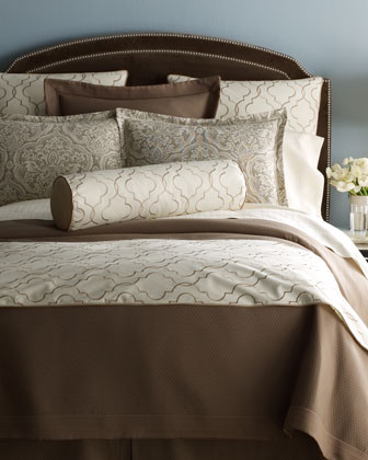 Peacock Alley Adrianna Bed Linens King Matelasse Coverlet, 115 x 98 traditional-bedding
