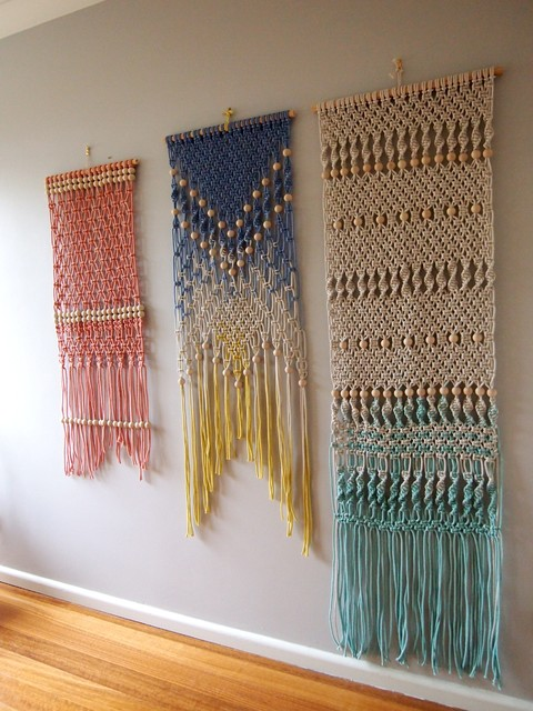Wall Hanging Craft Design : Macram? wall hanging by ouchflower