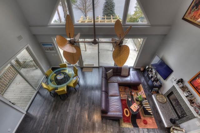 Salt & Pepper Caramel contemporary-living-room