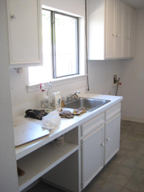 Laundry Room Before Remodel transitional