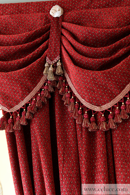 Valance curtains with swags and tails by celuce.com traditional