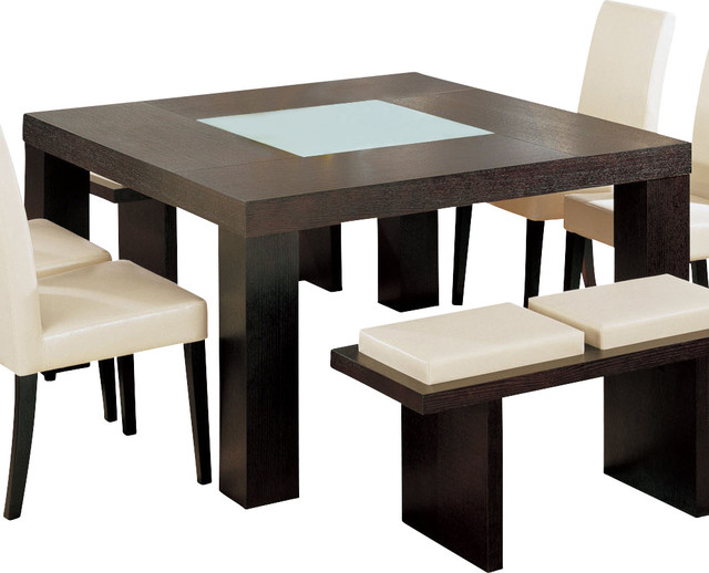 Global Furniture USA Lony Square Dining Table In Wedge Traditional