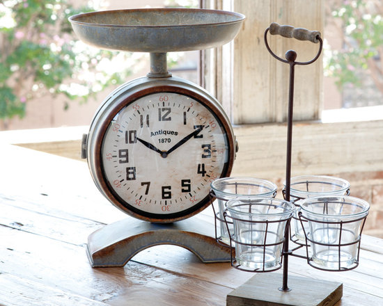 Vintage Style Scale Clock - It may no longer measure the perfect cup of berries but with clock faces on both sides it will measure the time it takes to bake those perfect tarts! A home and garden collection selected that bring happy memories of childhood past. Whether you are looking for period charm, a style of elegant restraint or just want to infuse a spirit of playfulness, you'll find it here.