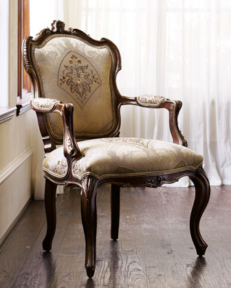 """Simone"" Frame Chair traditional-living-room-chairs"