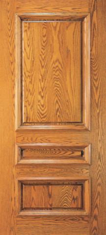 Exterior Mahogany Wood 3 Panel Traditional Colonial Single