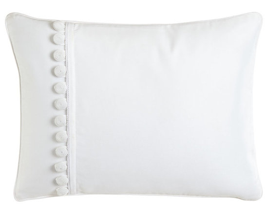 """Charisma - Pillow with Buttons 12"""" x 16"""" - CharismaPillow with Buttons 12"""" x 16""""Designer About Charisma:Charisma linens are known for an understated elegance with attention to detail and quality workmanship. The Charisma collection includes fine bedding and towels crafted from luxurious fabrics such as Egyptian cotton and Supima cotton for a truly soft touch that endures."""