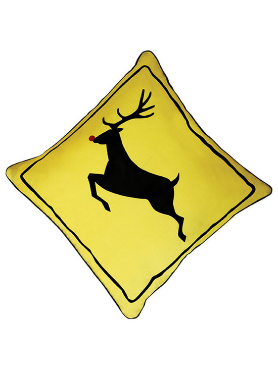 Naked Decor Reindeer Crossing Pillow