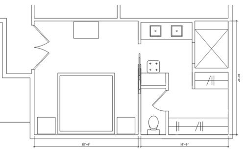 Help with my master suite design 5x5 closet layout