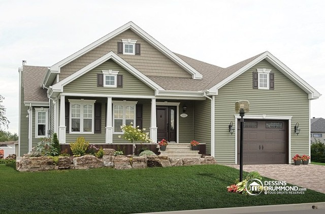 Small & Affordable Traditional Bungalow no. 3239 by Drummond House Plans traditional-exterior
