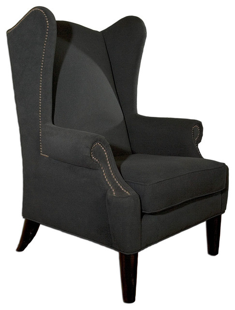 Graphite Wingback Chair contemporary chairs