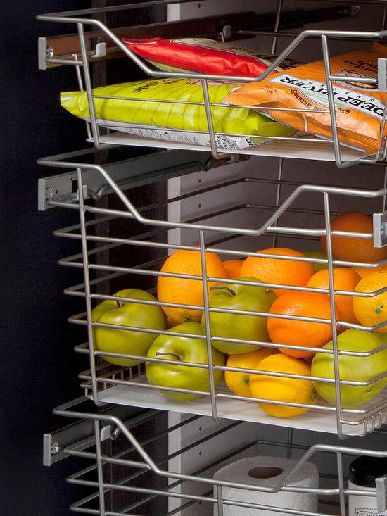 Pantry Sliding Chrome Baskets -