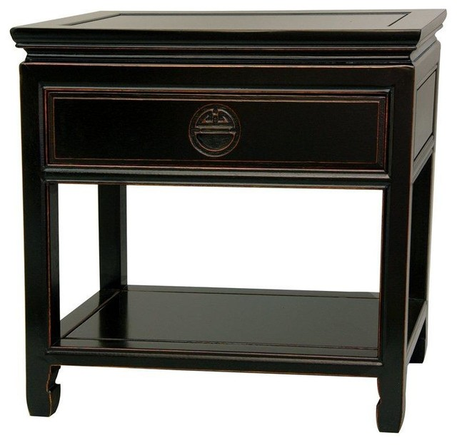 Rosewood Bedside Table - Antique Black - Traditional - Nightstands And Bedside Tables - by ...